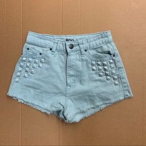 BDG Urban Outfitters Green High Waist Shorts 25W